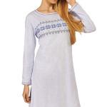 Bavlněná noční košile Laura modrá