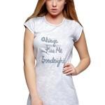 Dámská bavlněná noční košilka Kiss Me šedá