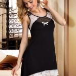 Dámská košilka Llilia black-ecru