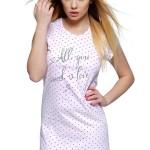 Dámská noční košile Charlotte se srdíčky