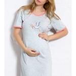Dámská noční košile mateřská Čáp s miminkem