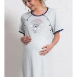 Dámská noční košile mateřská Méďa s padákem
