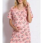 Dámská noční košile mateřská Méďa s polštářem
