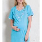 Dámská noční košile mateřská Méďové na šňůře