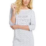 Dámská noční košile Moly šedá s hvězdičkami