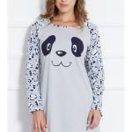 Dámská noční košile s dlouhým rukávem Panda Happy