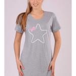 Dámská noční košile s krátkým rukávem Hvězdička