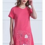 Dámská noční košile s krátkým rukávem Kočka Parádnice