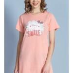 Dámská noční košile s krátkým rukávem Kočka Smile