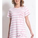 Dámská noční košile s krátkým rukávem Kotě s klubíčkem