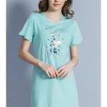 Dámská noční košile s krátkým rukávem Pes s mašlí