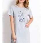 Dámská noční košile s krátkým rukávem Psi