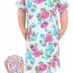 Dámská noční košile s krátkým rukávem Róza