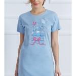 Dámská noční košile s krátkým rukávem Slon s dárkem