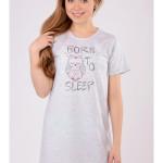 Dámská noční košile s krátkým rukávem Sova Sleep