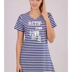 Dámská noční košile s krátkým rukávem Stop