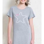 Dámská noční košile s krátkým rukávem Velká hvězda