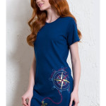 Dámská noční košile s krátkým rukávem Velká kotva