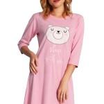 Dámská noční košile Sleepy Bear růžová