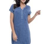 Dámská noční košile Vivien modrá
