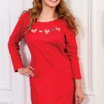 Dámská noční košilka Kaja červená