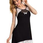 Dámská noční košilka Lilie černo bílá