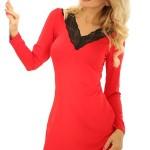 Dámská noční košilka Paris červená