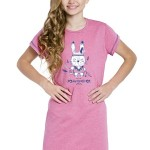 Dívčí košilka Liana růžová se zajíčkem