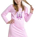 Dívčí noční košilka Inga růžová