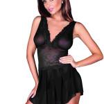 Erotická košilka 903 Angelique black