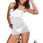 Erotická košilka Bella chemise white