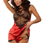Erotická košilka Hannah red