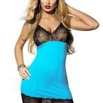 Erotická košilka Irmina turquoise