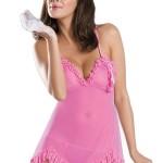 Erotická košilka Joanna pink