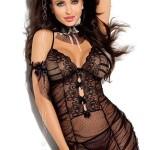 Erotická košilka V-5049 NIGHT ROSE