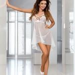 Erotická košilka V-6439 Bianco