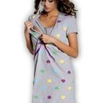 Kojící a těhotenská košilka Alla grey