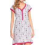 Kojící/těhotenská noční košile Dn-nightwear TM.9053