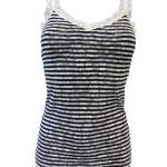 Krajková košilka 731233- DKNY  -černo-bílý proužek