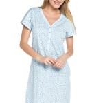 Mateřská noční košile Livie světle modrá