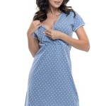 Mateřská noční košile Susanne modrá