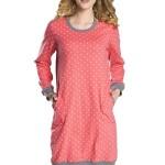 Noční košile Alezja raspberry