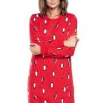 Noční košile Lulu červená tučňák