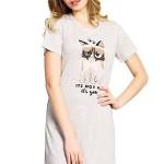 Noční košile Star Cat béžová