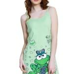 Noční košile Žabka zelená