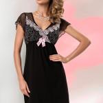 Noční košilka Donna Erika black-pink