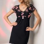 Noční košilka Donna Karina black-pink