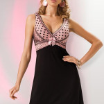 Noční košilka Donna Paris black-old pink