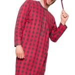Pánská noční košile Filip VIII červená káro