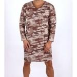 Pánská noční košile s dlouhým rukávem Army 4102 – Gazzaz